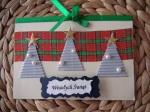 Kartka bożonarodzeniowa z choinkami